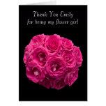 El florista rosado de encargo de los rosas le agra felicitacion