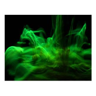 El fluir/fluoresceína en agua postal