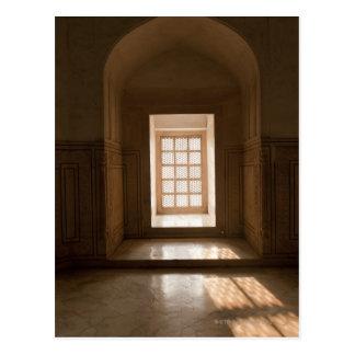 El fluir ligero a través de la ventana, mausoleo, postal