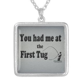 El Flyfishing: ¡Usted me tenía en el primer tirón! Colgante Cuadrado