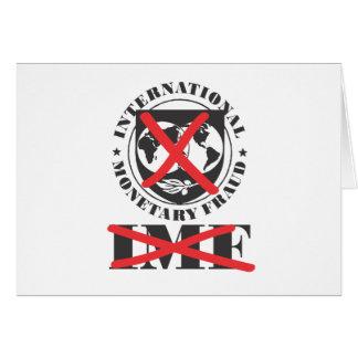 El FMI - el FMI anti - fraude monetario Tarjeta De Felicitación