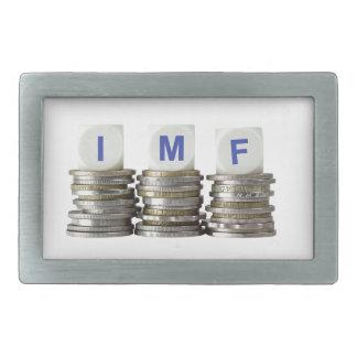 El FMI - Fondo Monetario Internacional Hebillas De Cinturon Rectangulares