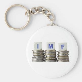El FMI - Fondo Monetario Internacional Llavero Redondo Tipo Pin