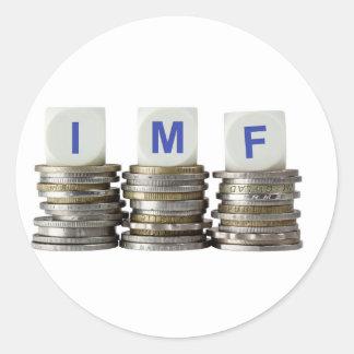 El FMI - Fondo Monetario Internacional Pegatina Redonda