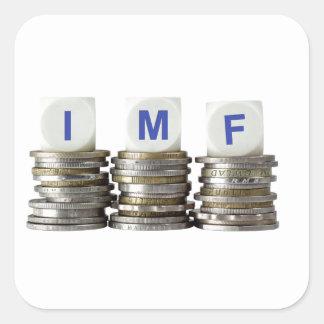 El FMI - Fondo Monetario Internacional Pegatina Cuadrada