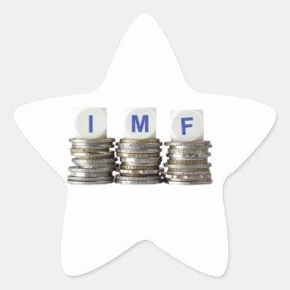 El FMI - Fondo Monetario Internacional Pegatina En Forma De Estrella
