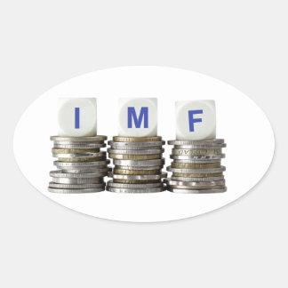 El FMI - Fondo Monetario Internacional Pegatina Ovalada