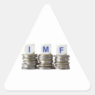 El FMI - Fondo Monetario Internacional Pegatina Triangular