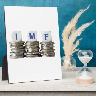 El FMI - Fondo Monetario Internacional Placa De Madera