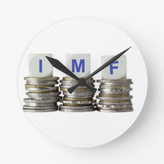 El FMI - Fondo Monetario Internacional Reloj Redondo Mediano