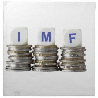 El FMI - Fondo Monetario Internacional Servilleta Imprimida
