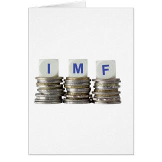El FMI - Fondo Monetario Internacional Tarjeta De Felicitación