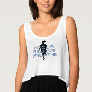 El foco cree respira las camisetas azules playera de tirantes holgada