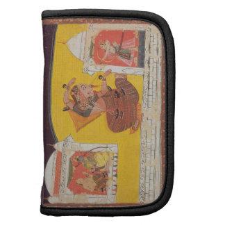 El folio 27 Laksmama corta la nariz de Surpanakha, Planificadores