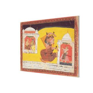 El folio 27 Laksmama corta la nariz de Surpanakha, Lona Envuelta Para Galerías