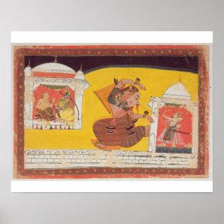 El folio 27 Laksmama corta la nariz de Surpanakha, Impresiones