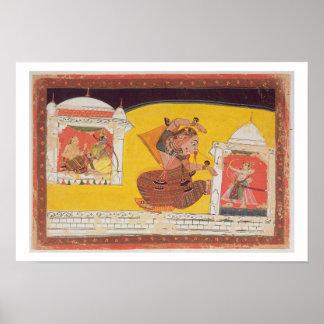 El folio 27 Laksmama corta la nariz de Surpanakha, Poster