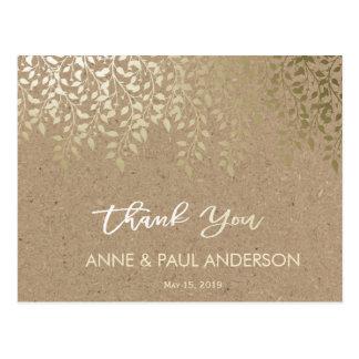 El follaje del oro le agradece cardar tarjetas postales