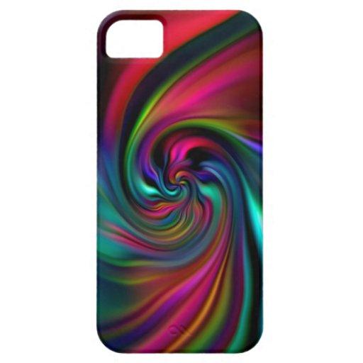 El fondo abstracto tuerce en espiral suavemente I iPhone 5 Funda