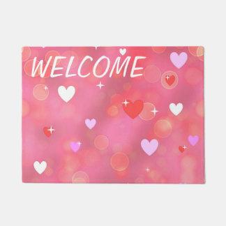 El fondo de la tarjeta del día de San Valentín Felpudo