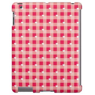 El fondo de la tarjeta del día de San Valentín roj Funda Para iPad