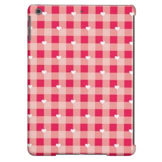 El fondo de la tarjeta del día de San Valentín roj Funda Para iPad Air