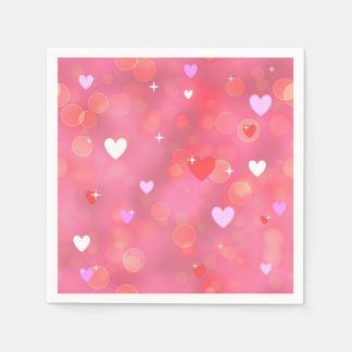 El fondo de la tarjeta del día de San Valentín Servilleta De Papel