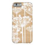 El fondo de madera florece el estampado de flores funda de iPhone 6 slim