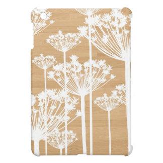 El fondo de madera florece el estampado de flores  iPad mini protector