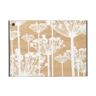 El fondo de madera florece moda femenina del estam iPad mini cárcasas