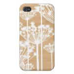 El fondo de madera florece moda femenina del estam iPhone 4/4S carcasa