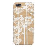 El fondo de madera florece moda femenina del estam iPhone 5 cárcasas