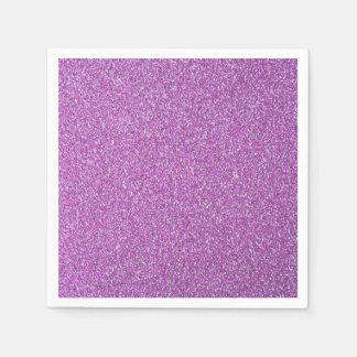 El fondo púrpura de las chispas añade sus los servilletas desechables
