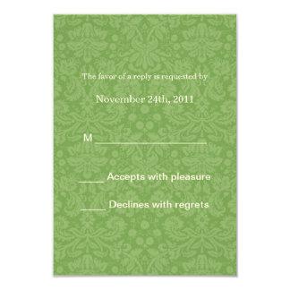 """El fondo verde del golpeteo que casa las tarjetas invitación 3.5"""" x 5"""""""