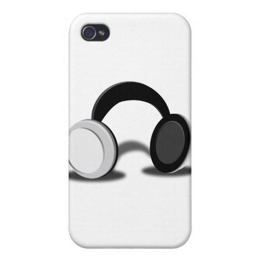 el fone-ouvido-cartoon_Vector DIRIGE MÚSICA iPhone 4 Fundas
