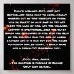 El forcast del infierno… caliente, apenas consegui poster