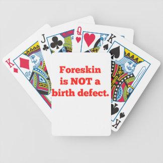 El Foreskin no es un defecto de nacimiento - rojo Baraja