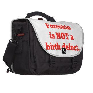 El Foreskin no es un defecto de nacimiento - rojo Bolsa De Ordenador