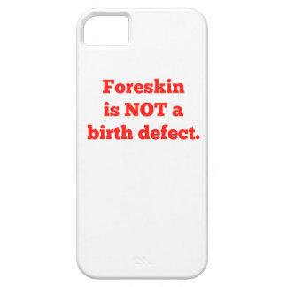 El Foreskin no es un defecto de nacimiento - rojo iPhone 5 Case-Mate Cárcasa