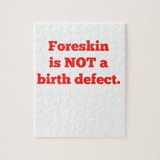 El Foreskin no es un defecto de nacimiento - rojo Puzzle