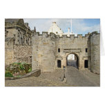 El Forework en el castillo de Stirling, Escocia Tarjeton