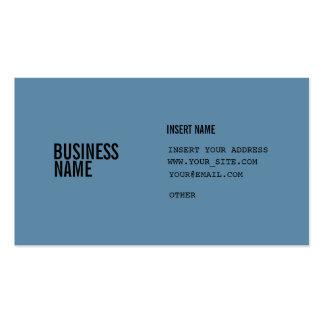 El formato azul con las columnas condensó fuentes tarjetas de visita