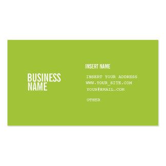 El formato verde moderno con las columnas condensó tarjetas de visita