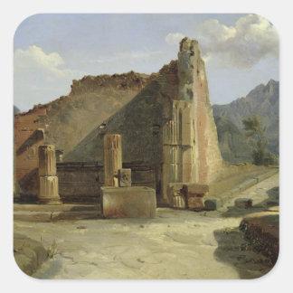 El foro de Pompeya Pegatina Cuadrada