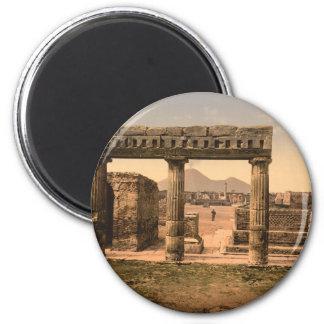 El foro, Pompeya, Campania, Italia Imán Redondo 5 Cm