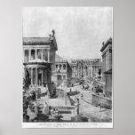 El foro romano de Antiquity, 1914 Póster