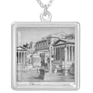 El foro romano de la antigüedad collar plateado