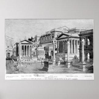 El foro romano de la antigüedad posters