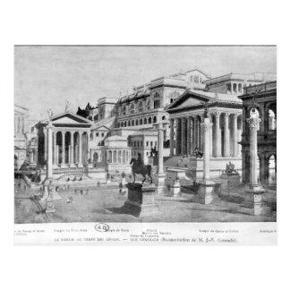El foro romano de la antigüedad postales