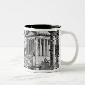 El foro romano de la antigüedad taza de café